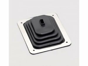 Hurst 1148429 Rectangle Chrome Steel Shift Plate And Rubber Boot Each