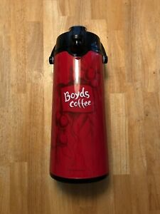 New Boyds Coffee 2 2 Liter Airpot Hot Coffee Dispenser