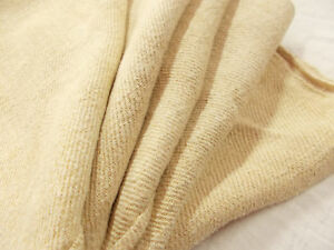 Vtg Antique Hemp Linen Grain Bag French Cream Beige Sheet Blanket Quilt 70x59