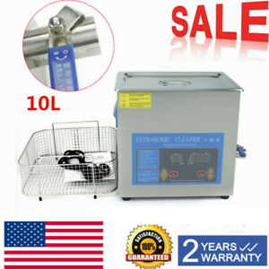 10l Industry Grade Ultrasonic Cleaner Stainless Steel Cleaning Machine Heat Time