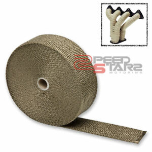 50mm 1 6mm 15m 50 Titanium Header Exhaust Turbo Intake Manifold Heat Mesh Wrap