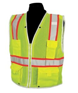 Imperial 913561 7 High Visibility Traffic Safety Vest M Yellow green