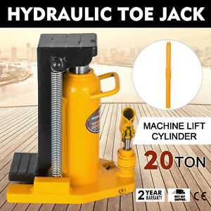 20 Ton Hydraulic Toe Jack Machine Lift Cylinder Welded Steel Tool Proprietary