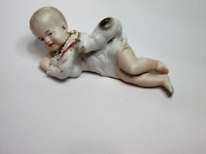Piano Baby Conte Boheme Figure 1910 Hollow Porcelain Kitten Infant Figurine