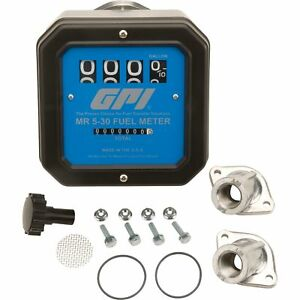 Gpi Mechanical Fuel Meter 1in Inlet outlet 5 To 30 Gpm Model Mr 5 30 g8n