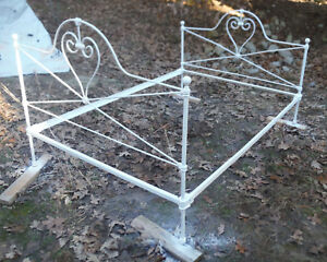 Rare Vintage Antique Full Size Bed W Heart Designs Local Pick Up Freight