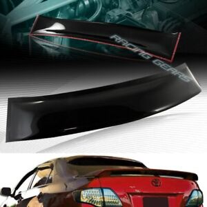 Black Abs Plastic Rear Window Roof Visor Spoiler Wing Fit 08 12 Toyota Corolla