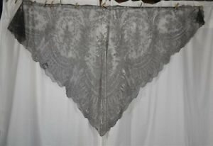 Chantilly Lace Shawl Large Triangle 108 In Civil War Era Original Antique