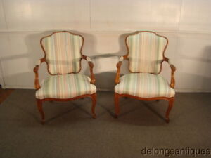 47343 Hickory Chair Pair Of French Style Chairs