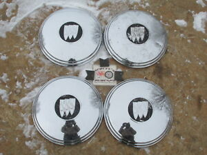 1961 64 Buick Electra 225 Invicta Etc Poverty Dog Dish Hubcaps Set Of 4