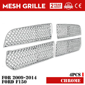 Grille For 2013 2019 Dodge Ram 1500 Chrome Snap Grill Cover Inserts Main Upper