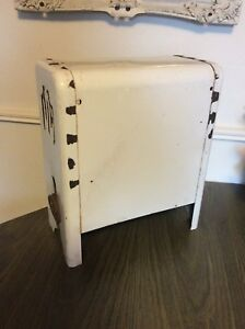 Vintage Antique White Porcelain Gas Space Bathroom Heater Stove