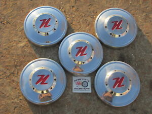 1956 Nash Rambler poverty Dog Dish Hubcaps Lot Of 5