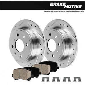 Rear Drilled Slotted Brake Rotors Ceramic Pads For 1989 1998 Nissan 240sx