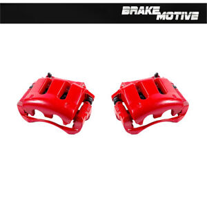 Front Red Coated Brake Calipers For 2005 2010 V6 Ford Mustang