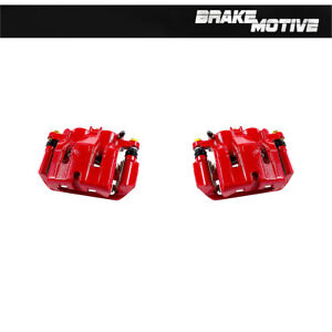 Front Red Powder Coated Performance Brake Calipers For Acura Tl Honda Ridgeline