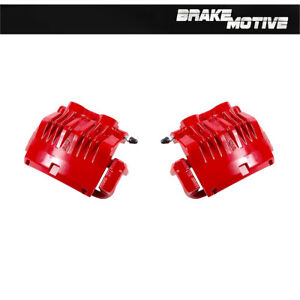 Front Red Coated Brake Caliper Pair For 1999 2000 2001 Ford Mustang Cobra
