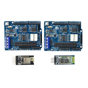 2x Arduino Control Kit Motor Drive Shield Board wifi Bluetooth Module
