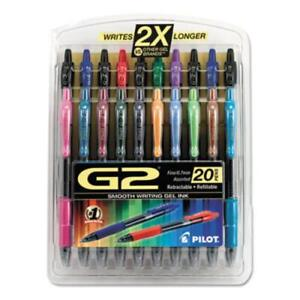 G2 Retractable Gel Ink Pens Assorted 20 pack 0 7 Mm Pen Point Size 31294