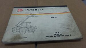 Jcb 532 Loadall Parts Book Manual