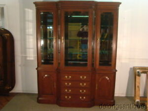 47724 Harden Solid Cherry Breakfront China Cabinet