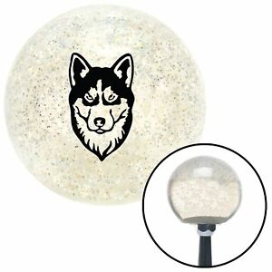 Husky Clear Metal Flake Shift Knob With M16 X 1 5 Insert Vintage Auto A Body