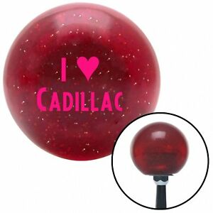 Pink I 3 Cadillac Red Metal Flake Shift Knob With 16mm X 1 5 Insert 9 Inch Gear
