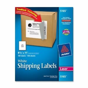 Avery Easy Peel Mailing Label 8 50 Width X 11 Length 100 Box Rectangle