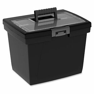 Storex Nesting Portable File Box Media Size Supported Letter Latch Lock