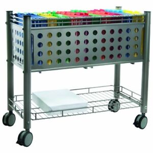 Vertiflex Open Top Rolling File Cart 4 Caster Steel 28 3 X 13 8 X 28 3