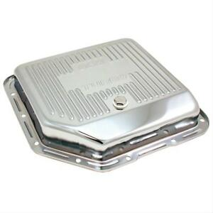 Spectre 5450 Transmission Pan Steel Chrome Finned Stock Capacity Gm Th 350 Each