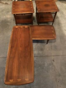Lane Coffee Table And End Tables Eames Era Danish Midcentury Dovetail
