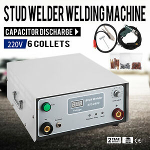 220 V Stc 2500 Capacitor Discharge Cd Stud Welder Spot Welding Machine M3 m10