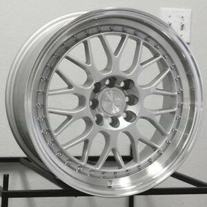 17x8 Ah02 17 Wheels 4x114 4x100 35 Fits 4 Lug Accord Prelude Civic Rims Set