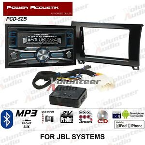 Power Acoustik Pcd 52b Double Din Car Stereo Radio Install Package