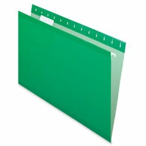 Esselte Hanging Folder Legal 8 50 X 14 1 5 Tab Cut Bright Green 25