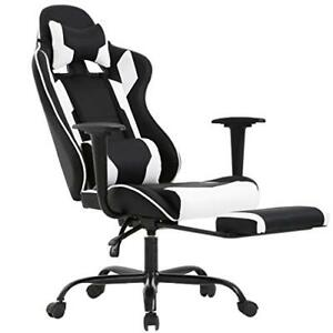 Gaming Office Chair high back Pu Leather Racing Reclining Computer chair