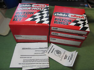Nos Childs Albert Piston Ring Set 3 815 1970 s Pinto 2 3l 035 File Fit