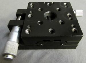 Melles Griot 2 5 X 2 5 Linear Translation Stage With Micrometer