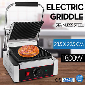 Commercial Electric Contact Press Grill Griddle Countertop Panini Grill Ld 811