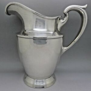 Baltimore Silversmith Sterling Silver Large Pitcher 640 Grams 22 Ounces Fine
