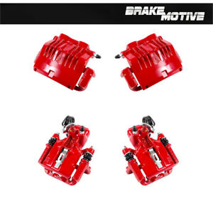 Front Rear Red Powder Brake Calipers For 1999 2000 2001 Ford Mustang Cobra Sn95