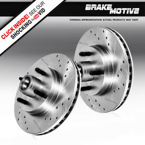 Front Drilled And Slotted Brake Rotors For 1993 Ford Mustang Cobra