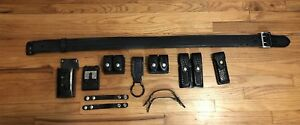 Police Duty Leather Gear Belt 12 Leather Accessories Top Quality Excellent