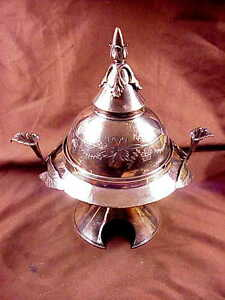 Meriden Britannia Co Domed And Ornate Silver Plate Covered Butter 1880