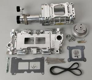 Weiand Supercharger System Roots 142 Series Polished Chevy Small Block Kit 65081