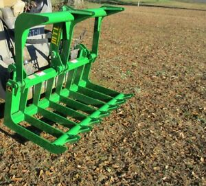 Mtl Attachments John Deere Compact Tractor 50 Root Rake Grapple Bucket free Ship