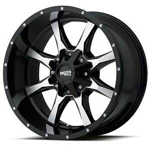 17 Inch Black Wheels Rims Chevy 2500 3500 Dodge Ram Truck 8 Lug Moto Metal 17x9