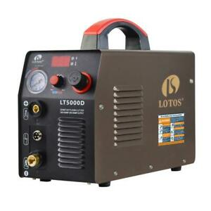 Lotos 50 Amp Compact Inverter Plasma Cutter For Metal Dual Voltage 110 220v
