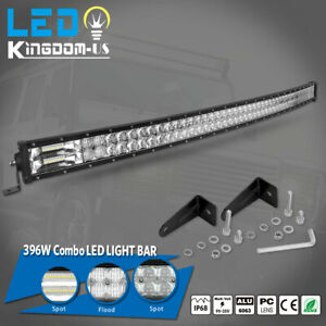 52inch Led Work Light Bar 396w Combo Dual Row For Chevrolet Ford Jeep 50 51 54